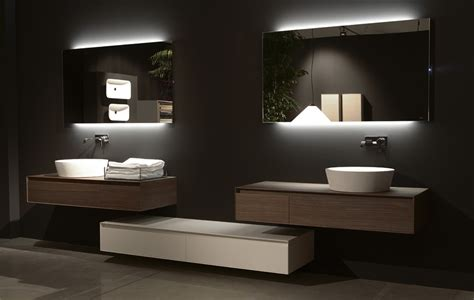 bathroom lighting and mirrors design flash back lit mirror by antonio lupi ambient kitchens
