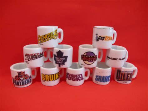 Mug Souvenir Set vintage nhl hockey miniature mugs glasses set souvenir collector reminiscethis on artfire