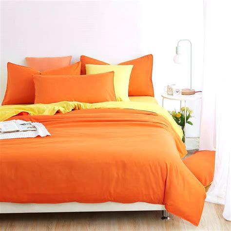 orange bed set orange duvet cover idearama co