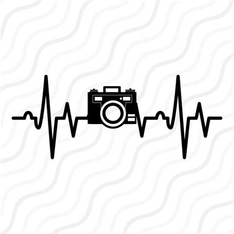 camera heartbeat svg heartbeat svg camera svg cut table