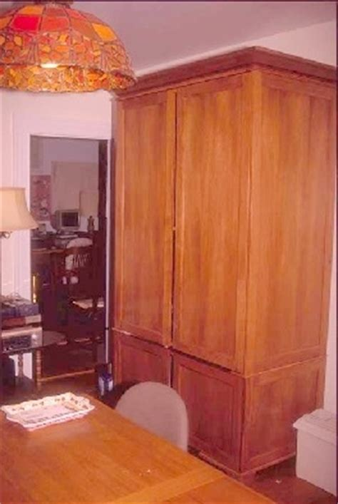 tall computer armoire woodware tall armoire computer desk plans with pocket doors