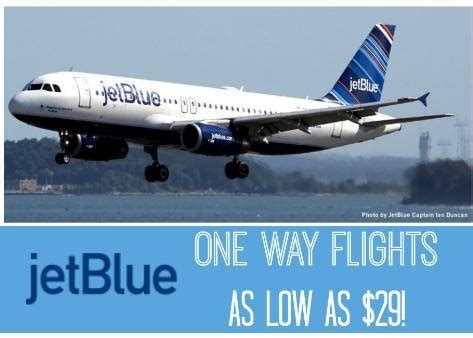 cheap flights on jetblue airlines one way flights only 29