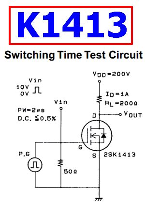 k1413 datasheet n channel silicon mosfet sanyo