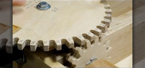how to make wooden gears for complex woodworking projects