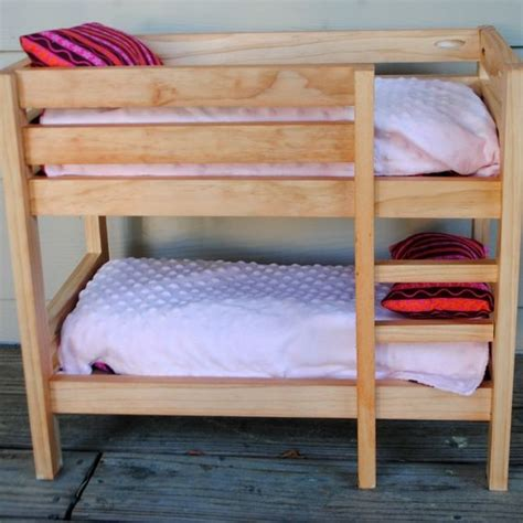 Bunk Beds For 18 Inch Dolls Handmade Stained Wooden 18 Inch Doll Bunk Bed By Bloomin Designs Custommade