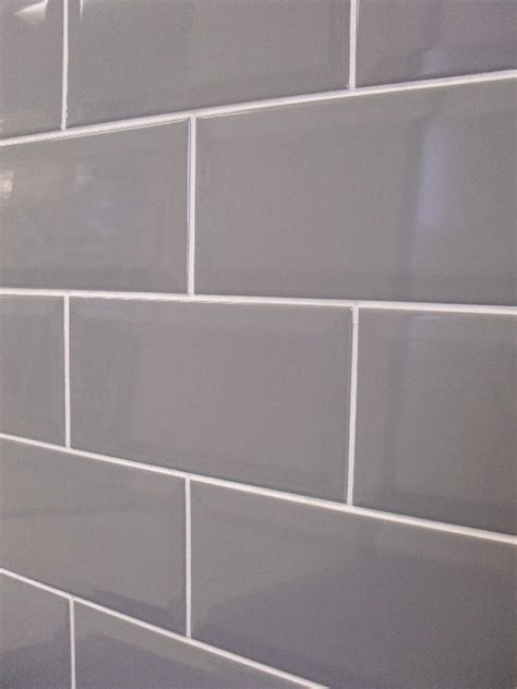Herringbone Kitchen Backsplash by Grey Subway Tile With White Grout For Behind Stainless