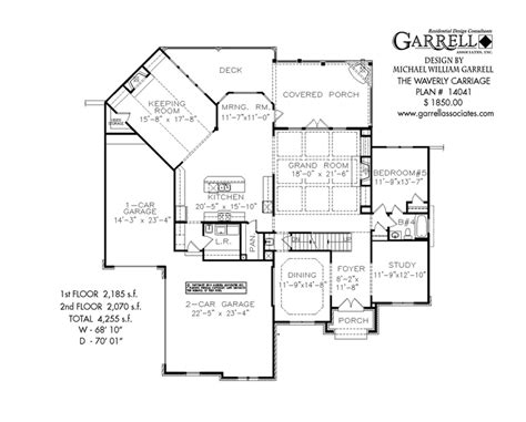 carriage house floor plans waverly carriage house plan house plans by garrell