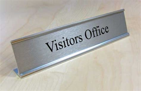 Office Desk Name Plates Metal Desk Sign Executive Desk Sign Ceo Desk Nameplate