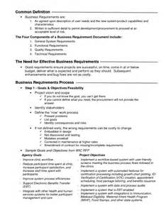 Business Requirements Definition Template Functional Requirements Document Definition