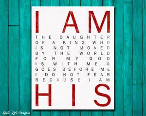 Christian Wall Decor by I Am His Christian Wall Nursery Wall By