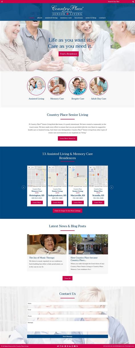 nursing home web design country place living