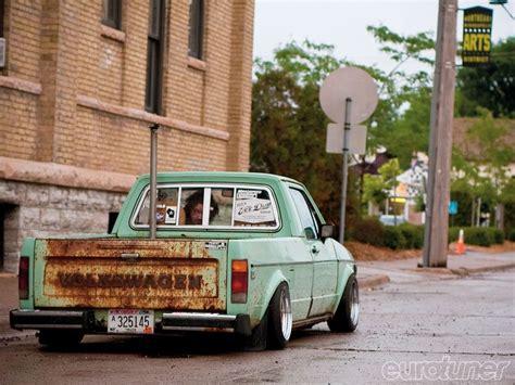 volkswagen pickup slammed rat cars are nice too vw rat caddy sonho sonho se