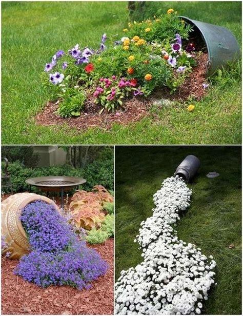 decorare il giardino decorare il giardino in modo creativo con i fiori 15 idee