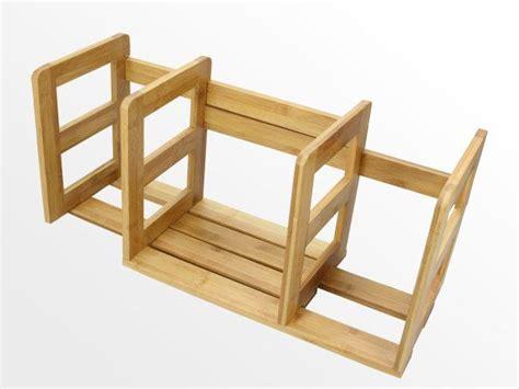 Desktop Book Rack by Expandable Adjustable Bookshelf Bamboo Desktop Book Rack