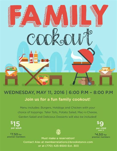 family cookout event flyer poster template bbq