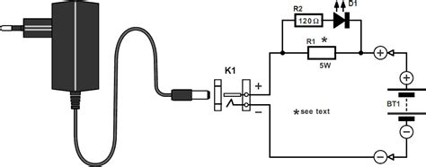 simple battery charger circuit diagram simple nicd battery charger electronic circuits diagram