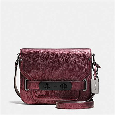 Coach Swagger In Metallic Pebble Leather 2016 coach f35995 coach swagger small shoulder bag in metallic pebble leather handbags coach