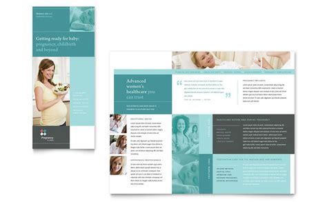 Pregnancy Clinic Tri Fold Brochure Template Design Free Mental Health Brochure Templates