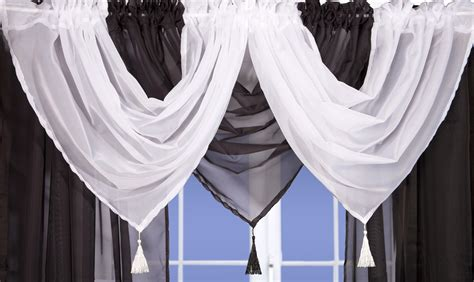 black and white swag curtains black voile swags and tails nets and curtains direct 2 u
