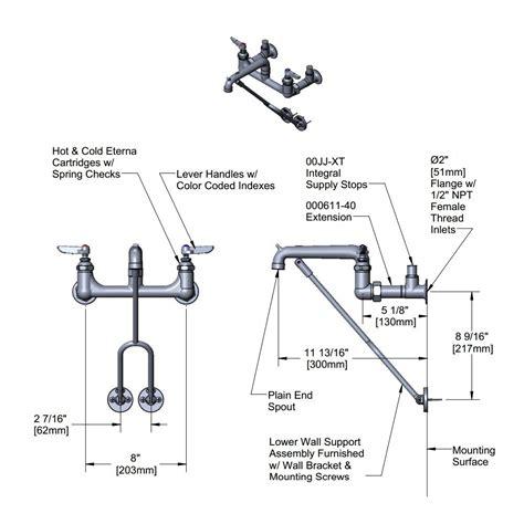 vessel sink faucet height mop sink faucet height
