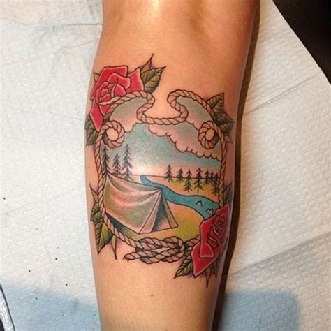 tent tattoo 62 bad and deeply regrettable travel tattoos