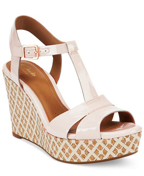 clarks artisan wedge sandals clarks artisan s amelia roma wedge sandals sandals