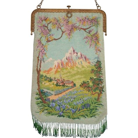 Fiores Bohemian Bloom Claudette Frame Handbag by Scenic Beaded Purse With Alpine Great Colors And