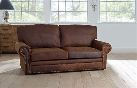 Leather Sofa With Studs Stylish Brown Leather With Studs Hamilton Studded Leather Sofa Bed Interior Furniture
