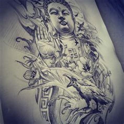 tattoo japonais québec dessin esprit zen bouddha temple nuages feuilles d 233 rable