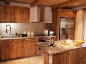 design cuisine chalet vieux bois deco montagne