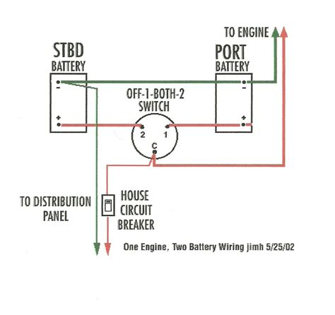 boat dual battery switch wiring diagram gooddy org