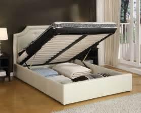Queen bed storage frame bed amp bath