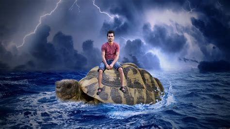 picsart manipulation tutorial the big turtle under sea manipulation picsart editing