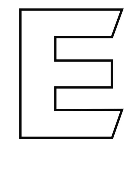 Capital Letter Capital Letter E Coloring Page Best Place To Color