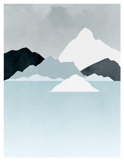 minimalist mountains minimalistic mountain painting minimal abstract