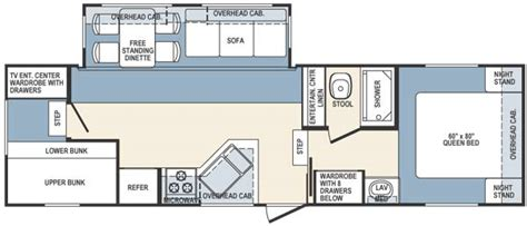 5th wheel bunkhouse floor plans forest river wildcat bunkhouse 5th wheel tcrv
