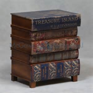 stacked books end table vintage stacked book side table treasure island