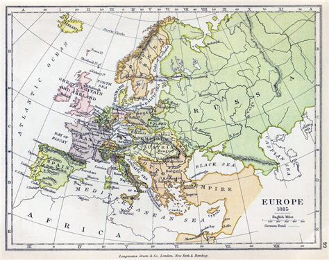 map of europe detailed detailed political map of europe 1815 vidiani