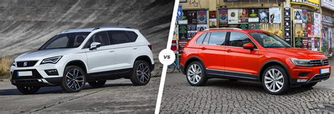 seat ateca vs tiguan seat ateca vs vw tiguan suv comparison carwow