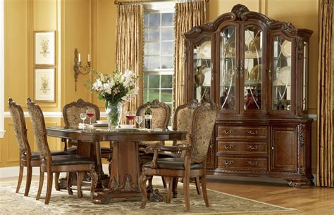 Furniture For Dining Room World Formal Dining Room Furniture Pedestal Table Upholstered Chairs