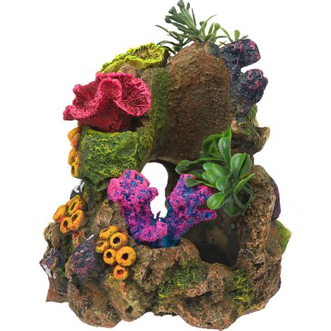 rockgarden resin aquarium coral garden petco