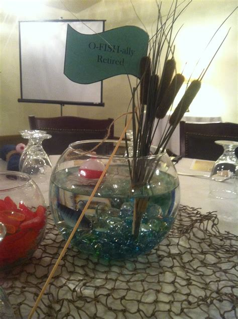 O Fish Ally Retired Centerpieces I Made Leann Bauer Retirement Centerpiece Ideas