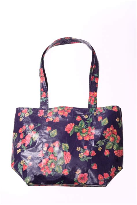 april cornell strawberry tote bag from wisconsin by