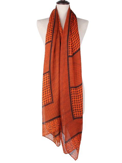 Stripe Cotton Scarf ultra houndstooth stripe leopard pattern cotton scarf