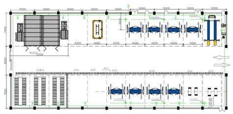 layout of workshop of automobile 1500m2 workshop design car equipment one stop service
