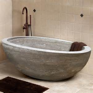 beige bathtub 68 quot claudius oval travertine tub beige travertine bathroom