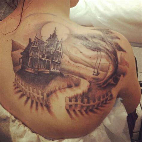 tattoos on pinterest 61 pins haunted house back piece ideas pinterest