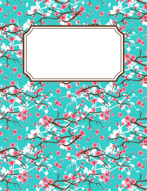 printable binder cover sheets free printable cherry blossom binder cover template