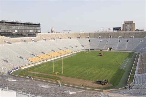 South Bend Tribune Sports Section by Photos Notre Dame Stadium Sod Removal College