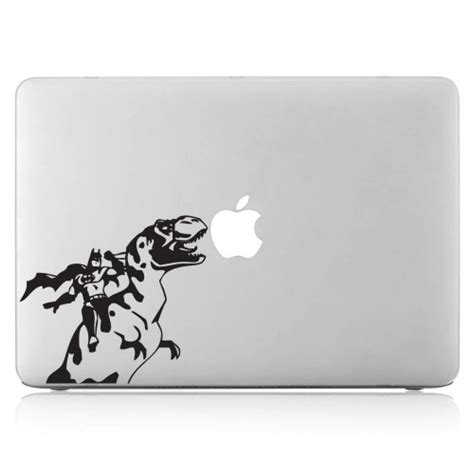 Decalandsticker Vinyl Macbook Hitam batman and dinosaur laptop macbook vinyl decal sticker